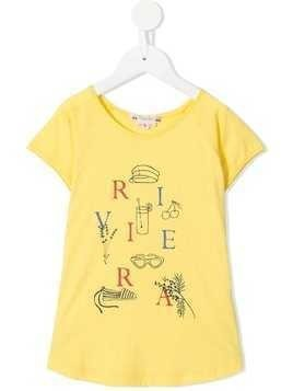 Bonpoint round neck T-shirt - Yellow