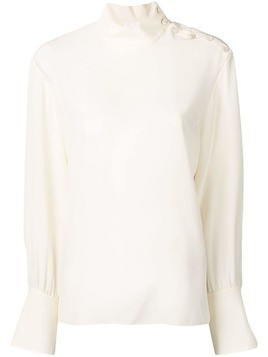 Chloé embellished buttons blouse - Neutrals
