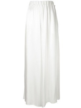 Ingie Paris plain palazzo pants - White