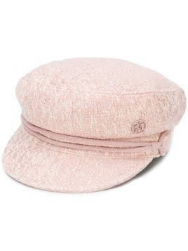Maison Michel New Abby tweed cap - PINK
