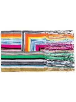 Missoni multicoloured striped scarf - Green