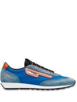 b97fc873c84bf Prada suede and nylon sneakers - Blue