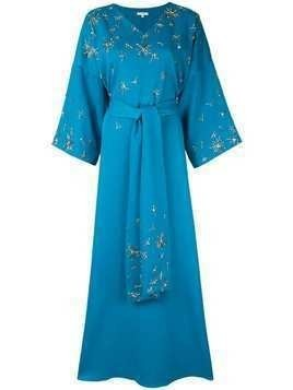Layeur beaded detail maxi dress - Blue