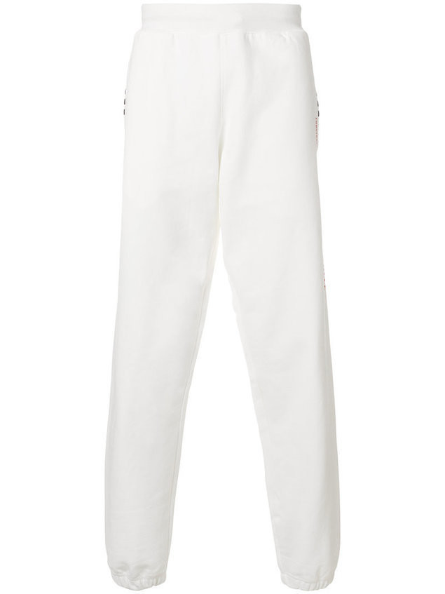 Adidas Originals By Alexander Wang - graphic jogging trousers - unisex - Cotton - L - White