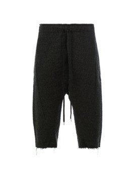 Individual Sentiments drawstring cropped trousers - Black