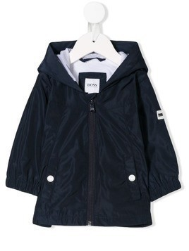 Boss Kids hooded logo jacket - Blue