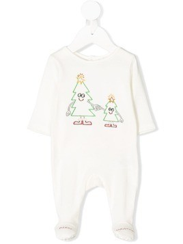 Stella Mccartney Kids christmas tree print pajamas - White