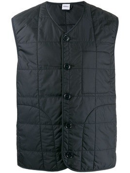 Aspesi quilted effect vest - Blue