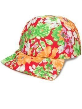 Plan C floral print baseball cap - Red