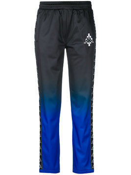 Marcelo Burlon County Of Milan two-tone tracksuit bottoms - Black