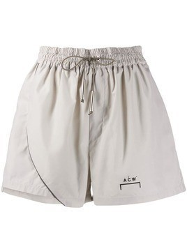 A-Cold-Wall* relaxed-fit logo track shorts - Grey