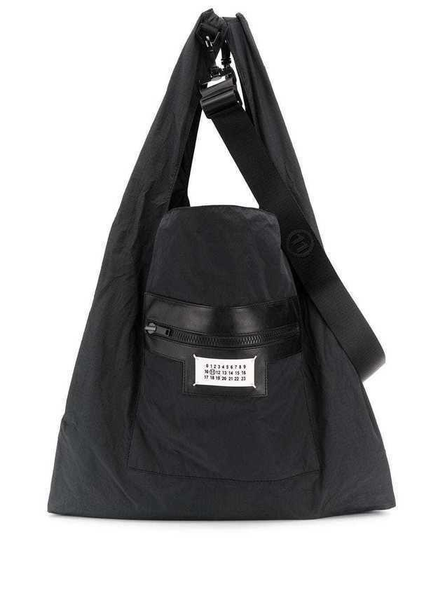 Maison Margiela dual-wear shopping bag - Black