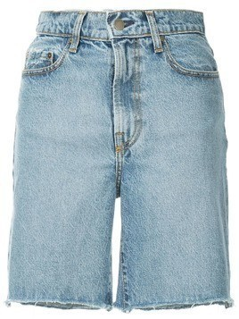 Nobody Denim Tyler raw hem shorts - Blue