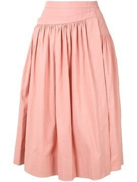 Rochas gathered asymmetric skirt - PINK
