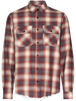 Amiri check print flannel shirt - Red