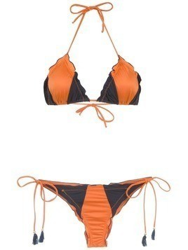 Brigitte panelled bikini set - Blue