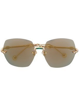 Elie Saab oversized sunglasses - Gold