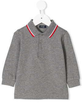 Il Gufo contrast-trim polo shirt - Grey