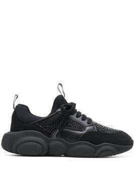 Moschino Teddy Run lace-up sneakers - Black
