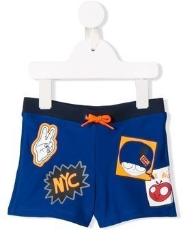 Little Marc Jacobs printed swim shorts - Blue