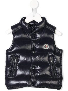 Moncler Kids down filled puffer vest - Blue