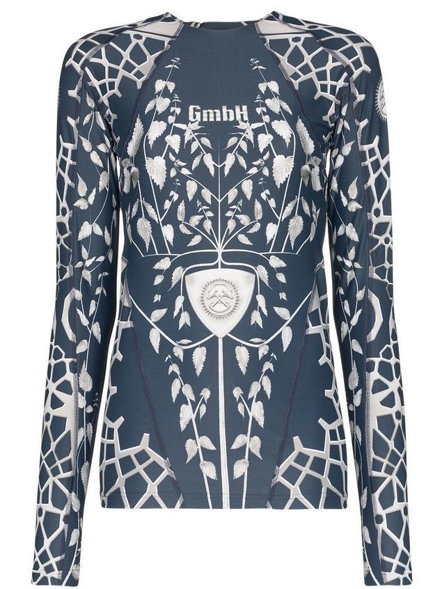 GmbH graphic print top - Blue