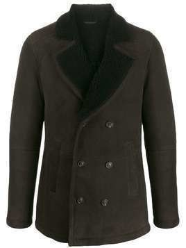 Desa 1972 double breasted shearling jacket - Brown