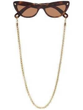 Lucy Folk brown Slice of Heaven cat eye sunglasses