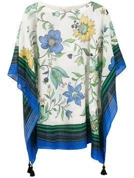 Tory Burch floral-print tunic - White