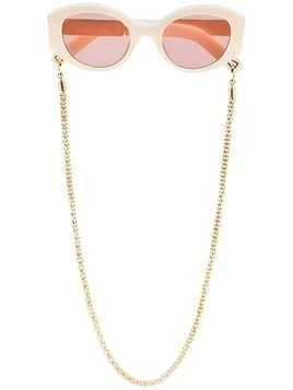 Lucy Folk white Cartouche pink tinted sunglasses - Neutrals