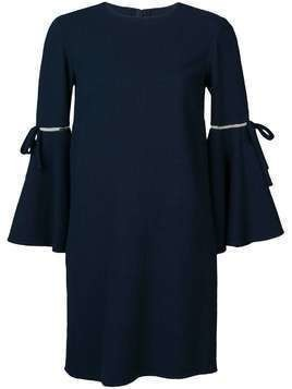 Oscar de la Renta 3/4 flutter sleeved dress - Blue