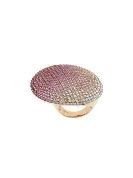 Gavello 18kt rose gold, sapphire and diamond cocktail ring - Pink