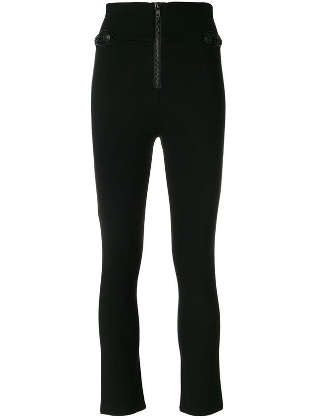 Pierre Balmain zipped skinny trousers - Black