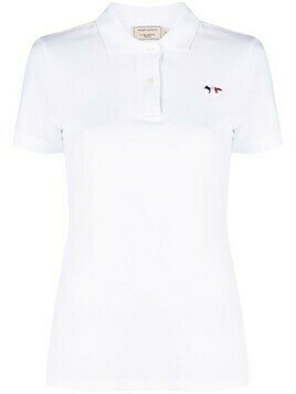 Maison Kitsuné Tricolour fox-appliqué polo shirt - White