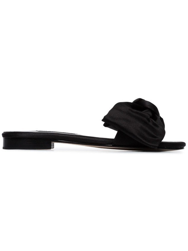 Newbark black Eva Satin Slides