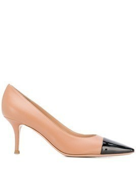 Gianvito Rossi contrast toe pumps - Neutrals