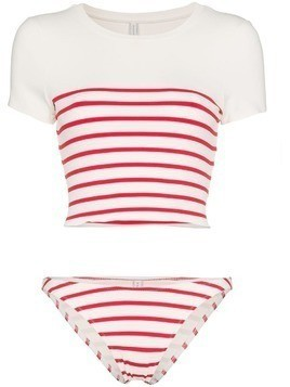 Solid And Striped the meghan stripe bikini - White