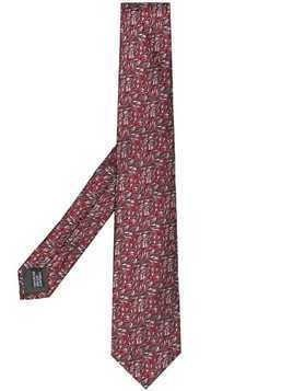 Lanvin classic patterned tie - Red