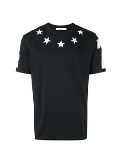 Givenchy embroidered stars T-shirt - Black