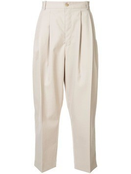 Hed Mayner pleated waist trousers - Neutrals