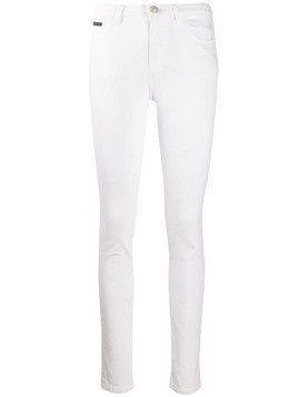 Philipp Plein slim fit jeans - White