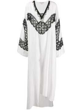 Giacobino V-neck kaftan dress - White