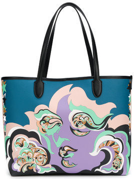 Emilio Pucci printed oversized tote - Pink & Purple