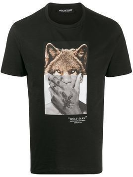 Neil Barrett Wolf-Man print T-shirt - Black