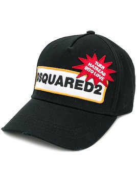 Dsquared2 Turn Hatered Into Love baseball cap - Black