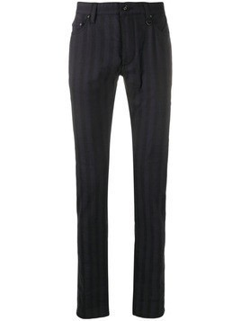 John Varvatos striped straight leg trousers - Blue