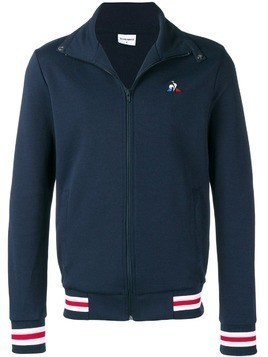 Le Coq Sportif stripe trim jersey jacket - Blue