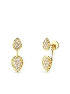 Boucheron 18kt yellow gold diamond Serpent Bohème single earring