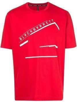 Blackbarrett logo print T-shirt - Red