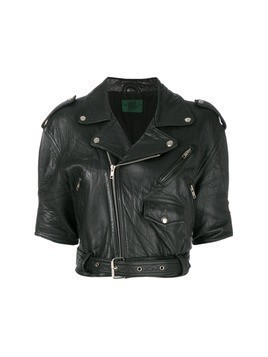Jean Paul Gaultier Vintage cropped leather jacket - Black